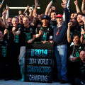 Mercedes Celebrate Teams' Title