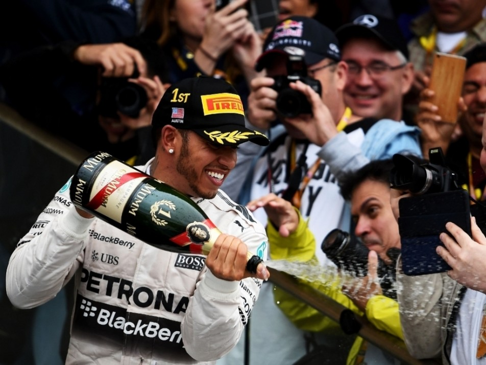 Champagne time for the number 1