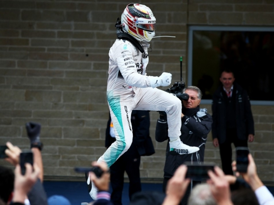 Hamilton went on to win the race - and with it came his third title