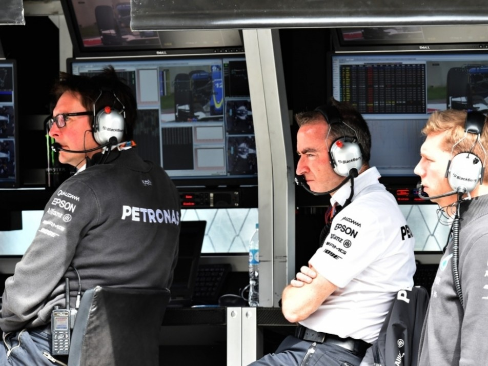 Paddy Lowe watches on