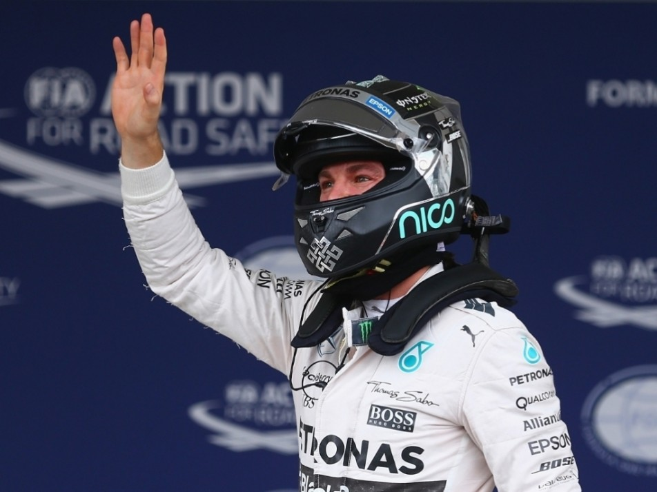 Rosberg made it four poles in a row