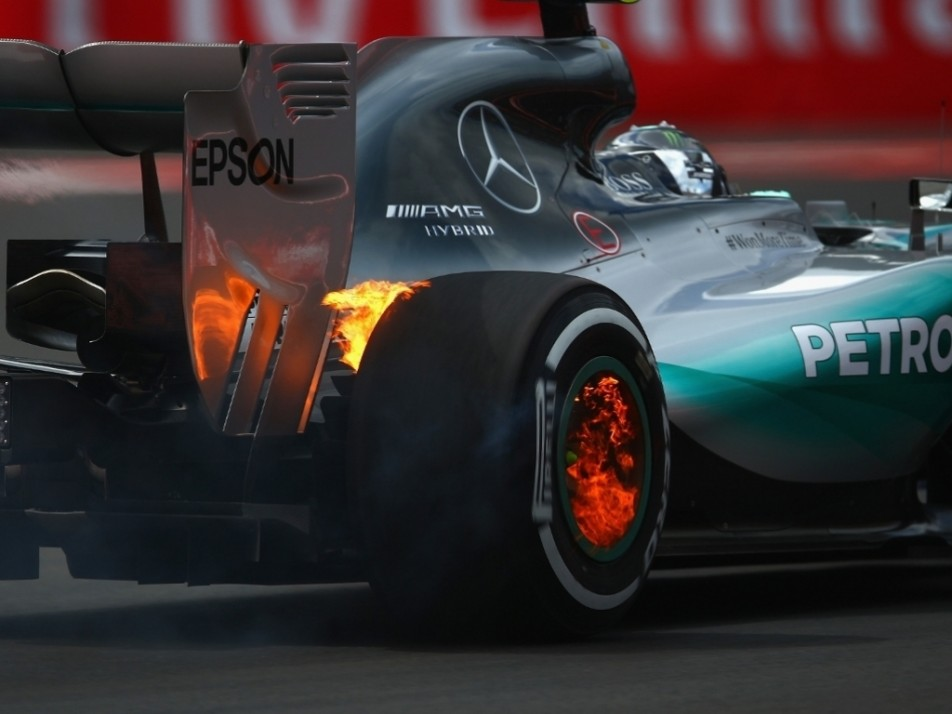 Rosberg was on fire