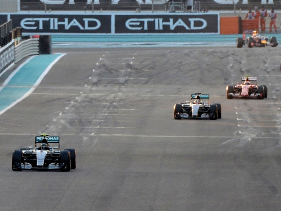 Rosberg leads Hamilton and Raikkonen