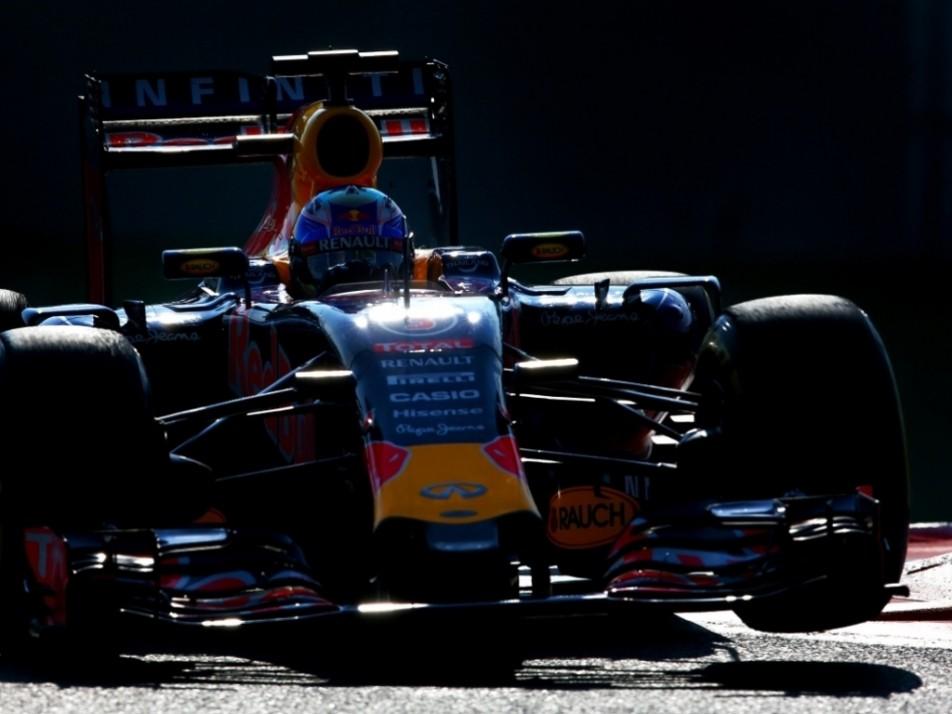 Ricciardo rides the kerbs