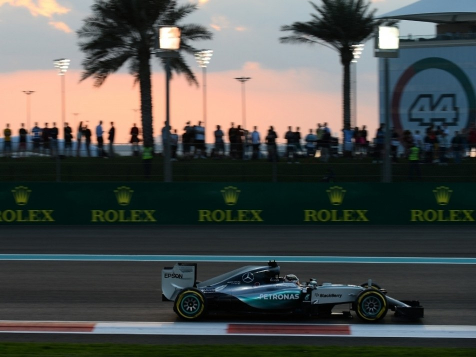 Fans watch on as Hamilton flies by