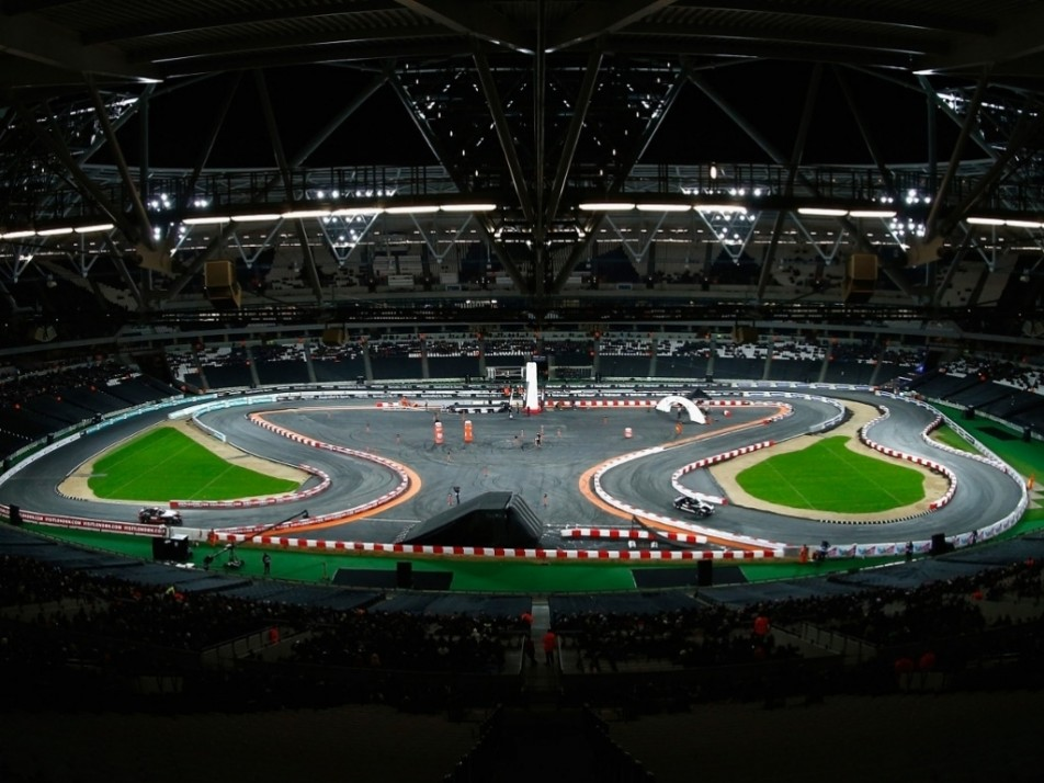 London's Olympic stadium hosted the Race of Champions
