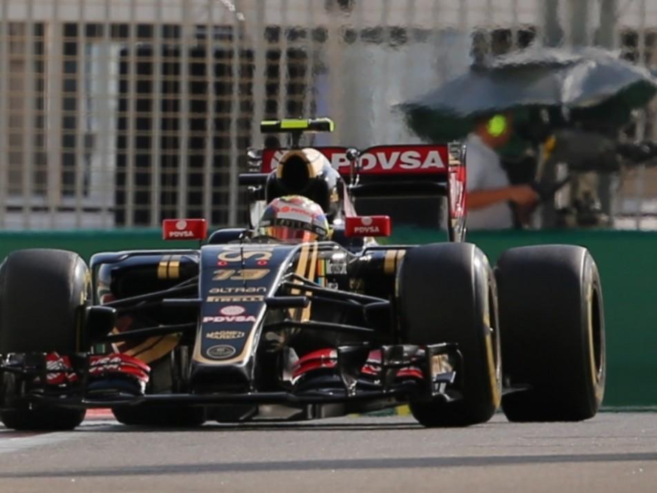Pastor Maldonado in action for Lotus