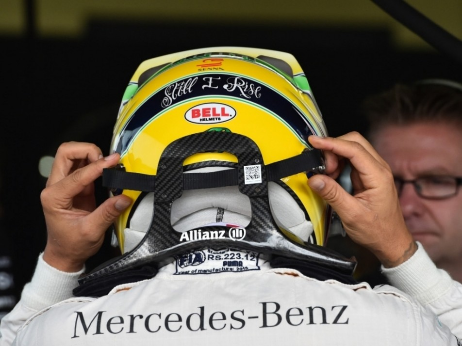 Hamilton's helmet for the weekend