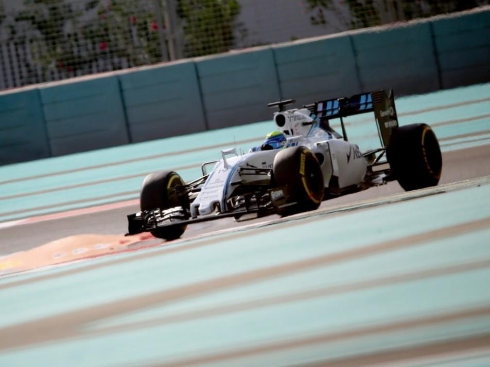 Felipe Massa puts in the laps