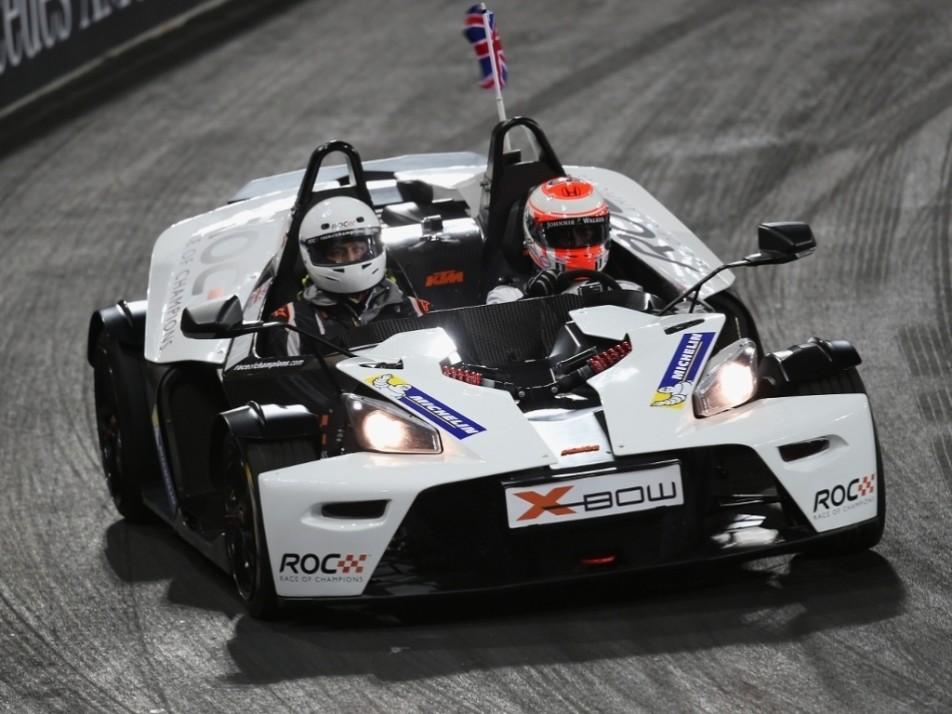 Jenson Button drives an X-bow