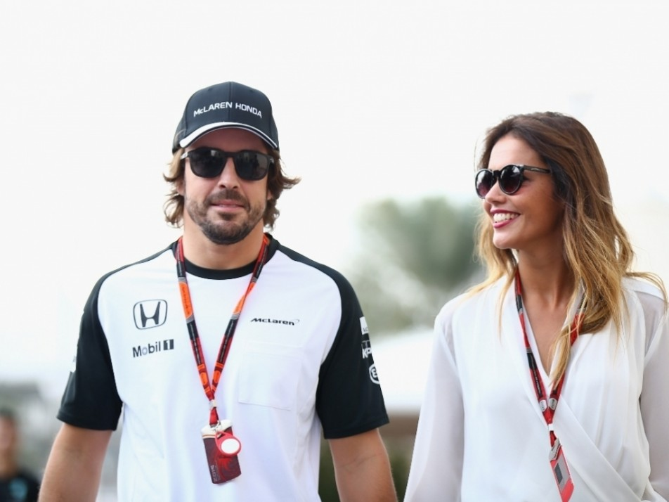 Alonso brought his girlfriend along for support