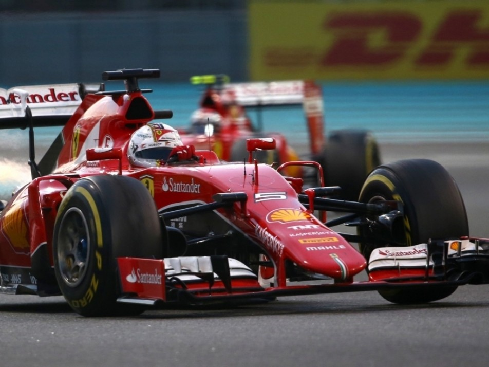 On different strategies, Kimi caught Vettel and easily passed - twice