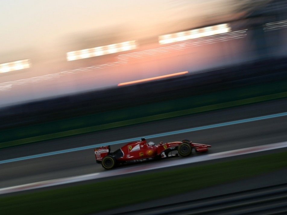Vettel, starting P15, had to work his way through the field