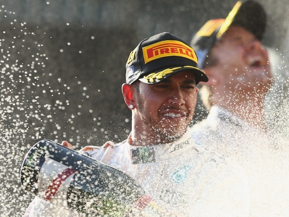 Lewis Hamilton wins the season-opening Australian GP win, the first of Merc's 1-2 results