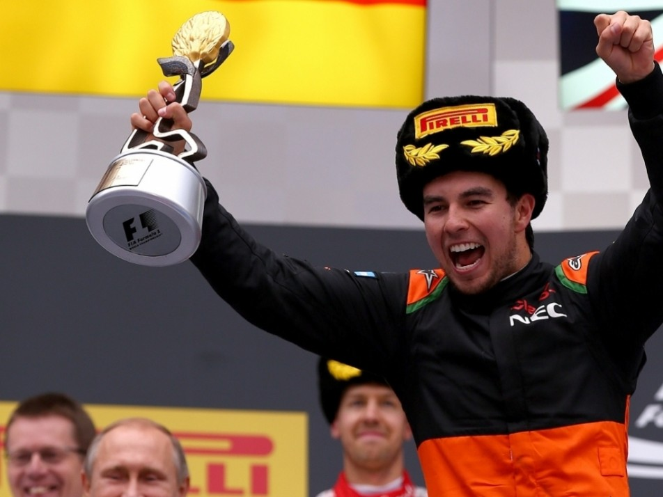 Sergio Perez lost P3 at the start of the final lap in Russia only for Raikkonen/Bottas to clash handing it right back to him