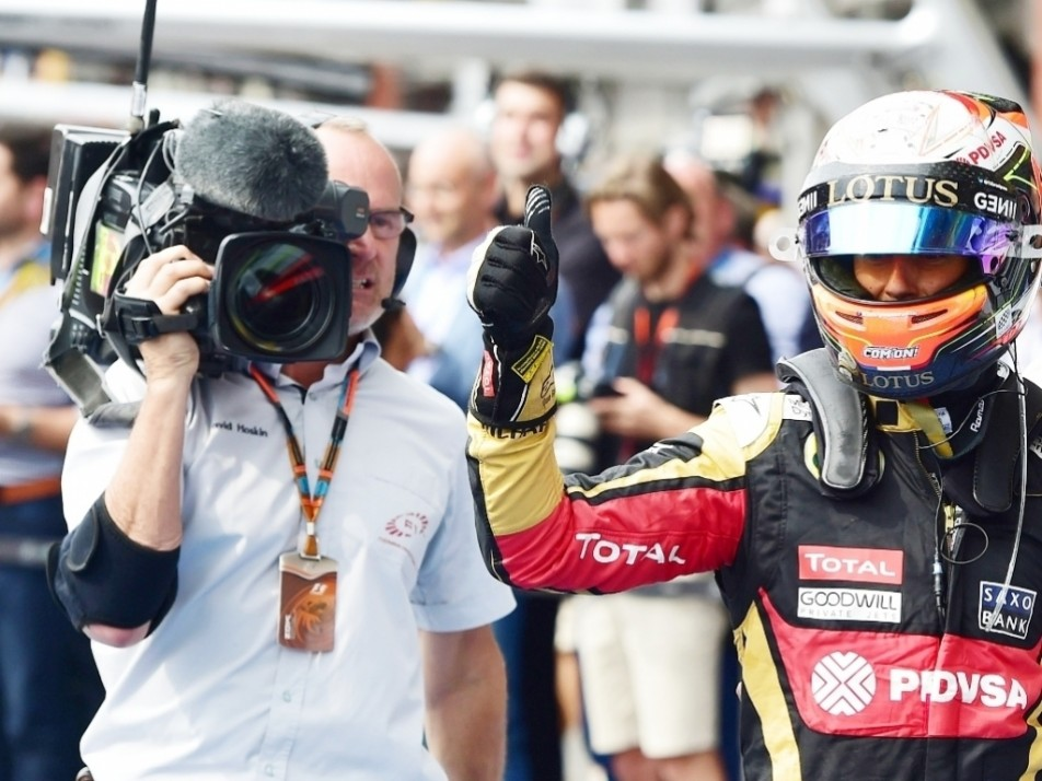 Romain Grosjean achieved his and Lotus' only podium with a P3 in Belgium