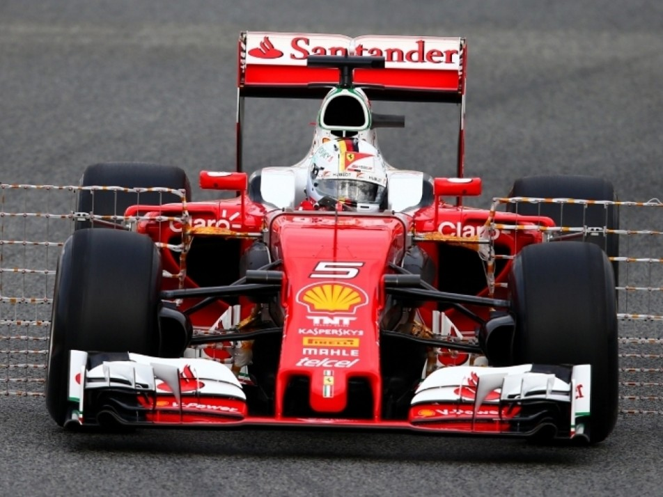 Vettel working out the kinks of the Ferrari