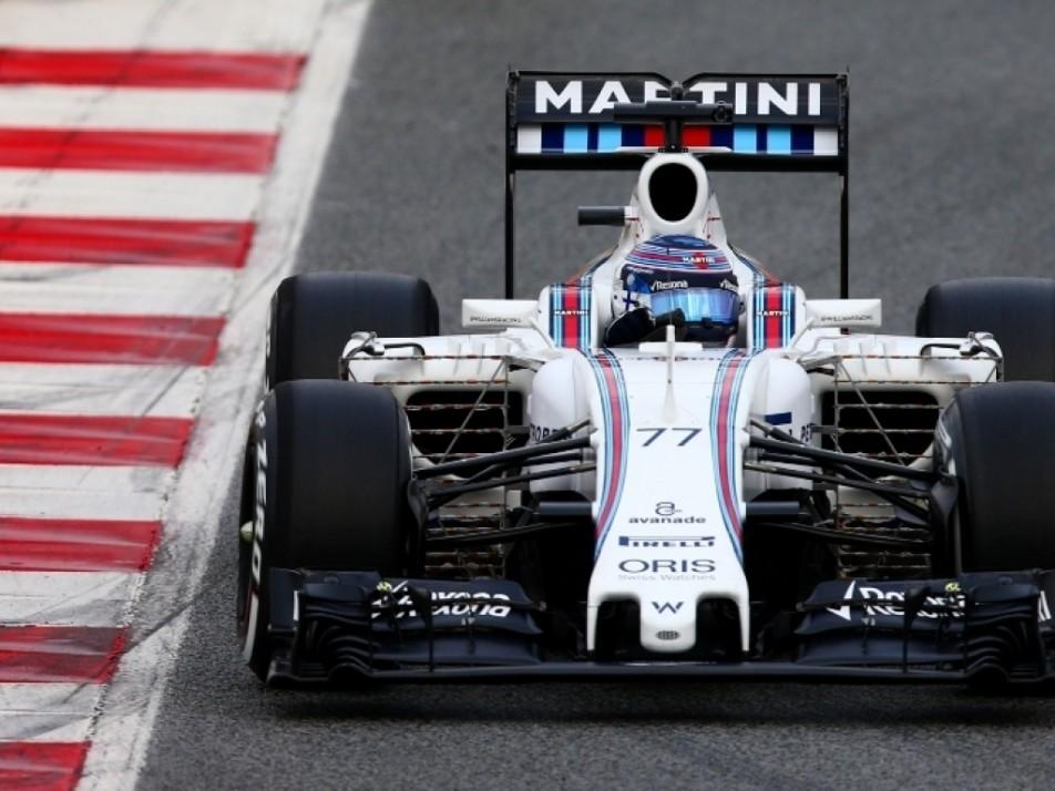 Bottas testing out the 2016 Williams