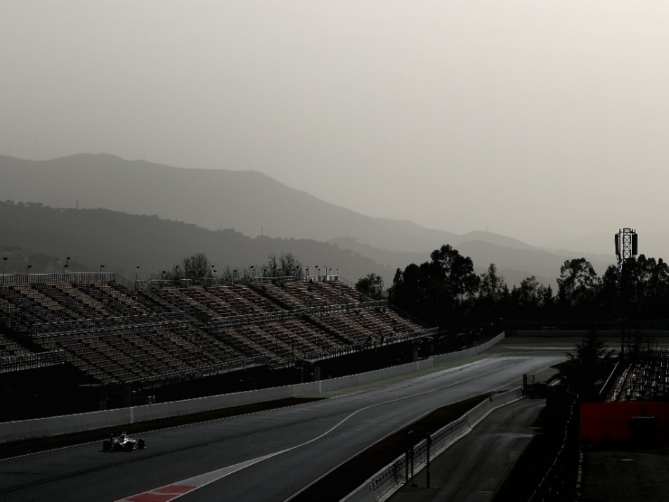 The teams are testing at Barcelona