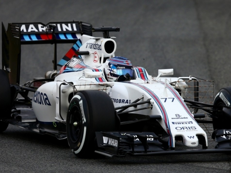 Bottas pushing the limits in the Williams