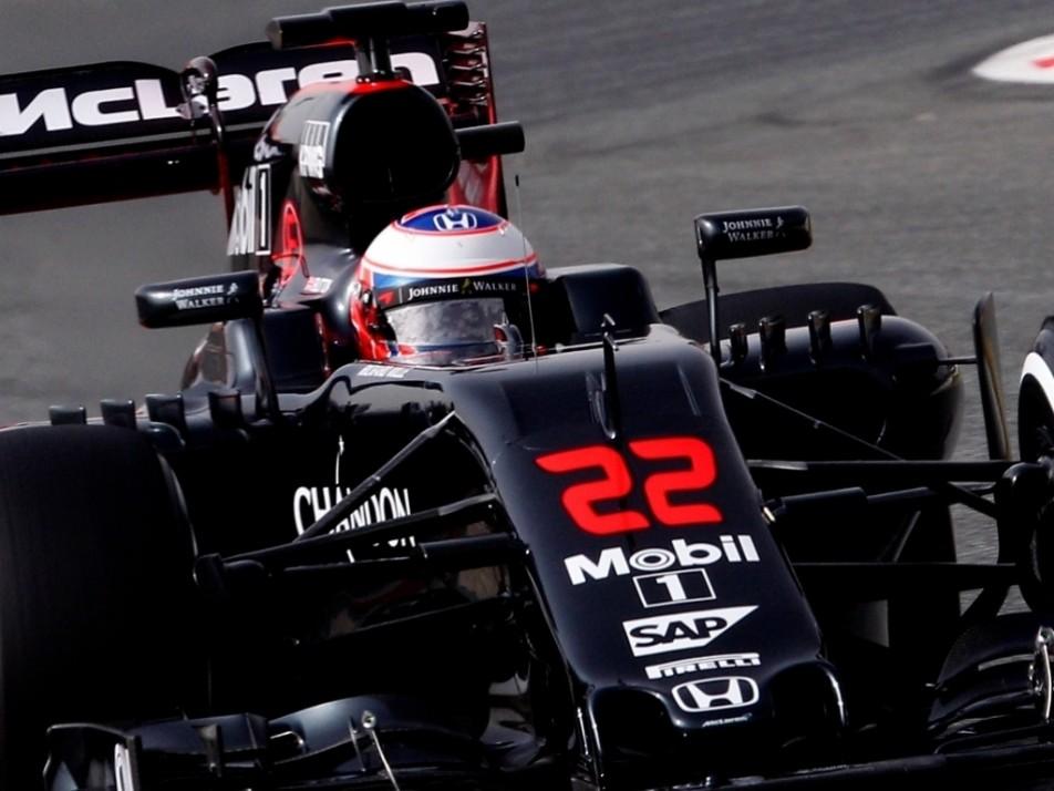 Button in his McLaren-Honda
