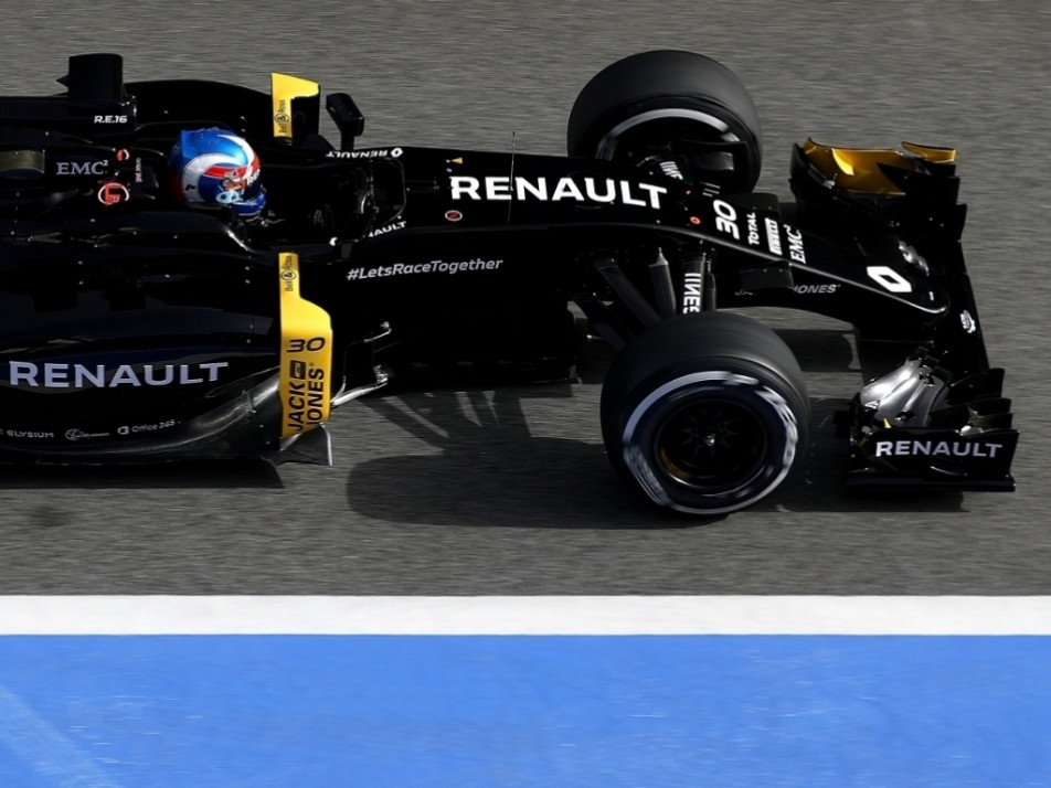 Palmer in his Renault RS16