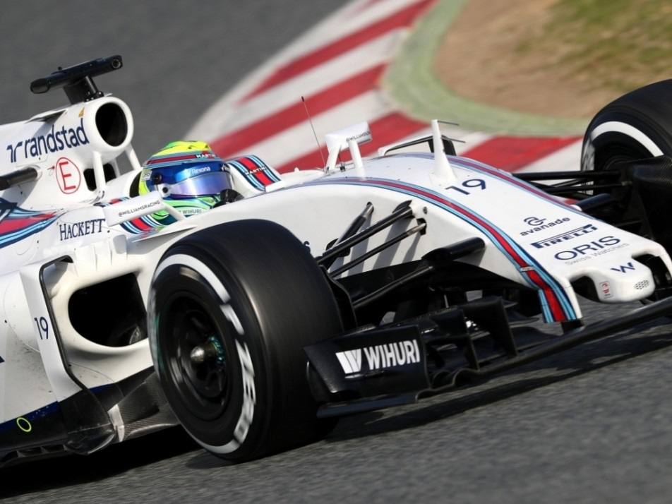 Massa's first run in the FW38