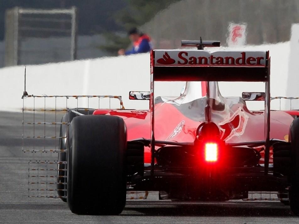 Vettel running an aero sensor