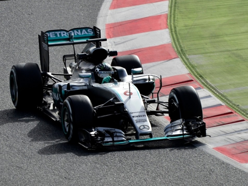 Like Hamilton, Rosberg piled on the laps