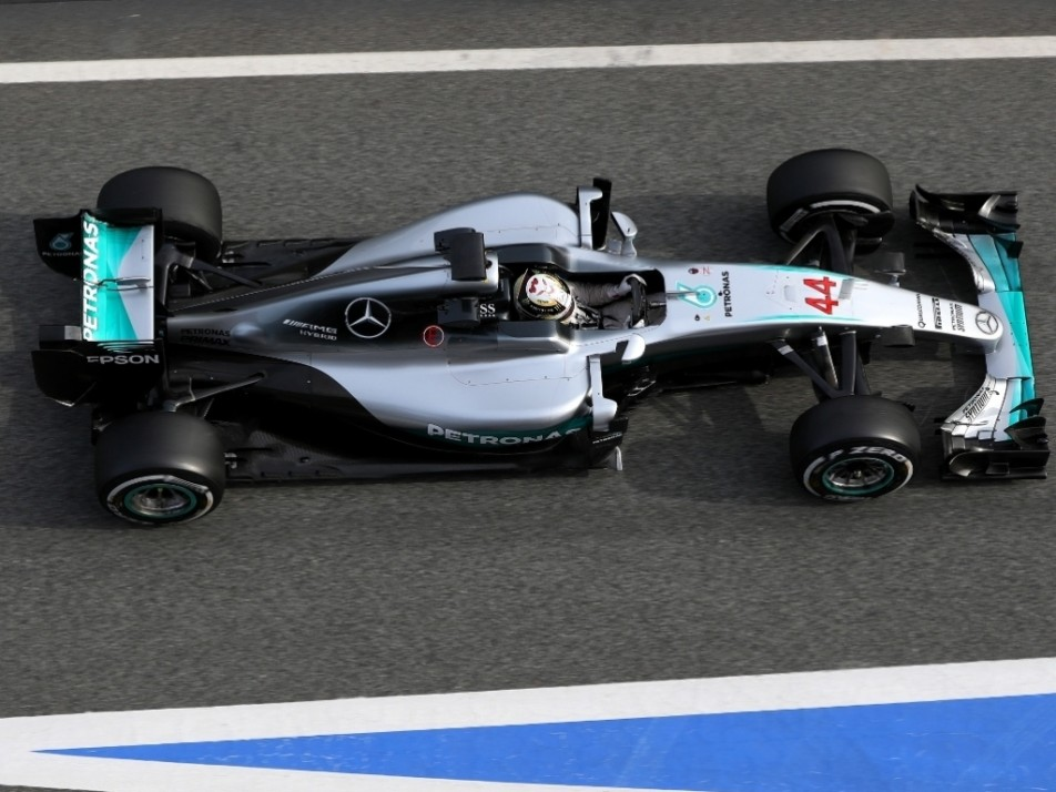 Hamilton was in action in the afternoon