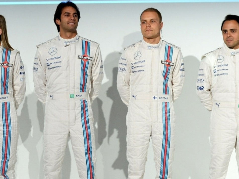 Susie Wolff, Felipe Nasr, Valtteri Bottas, Felipe Massa.