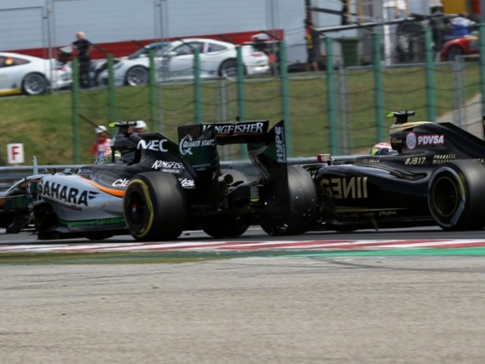 2015 Hungarian GP: Crashed into Sergio Perez, was penalised for that, for overtaking before the Safety Car line and again for speeding during his drive-through penalty