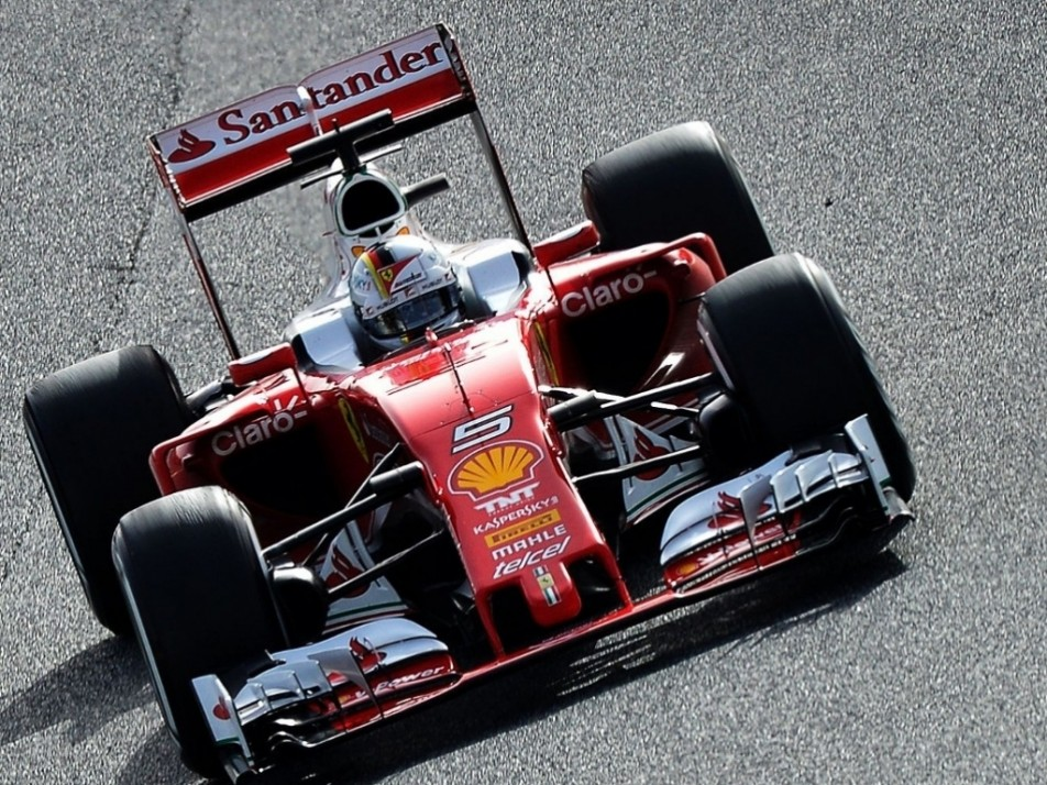 Vettel back in action