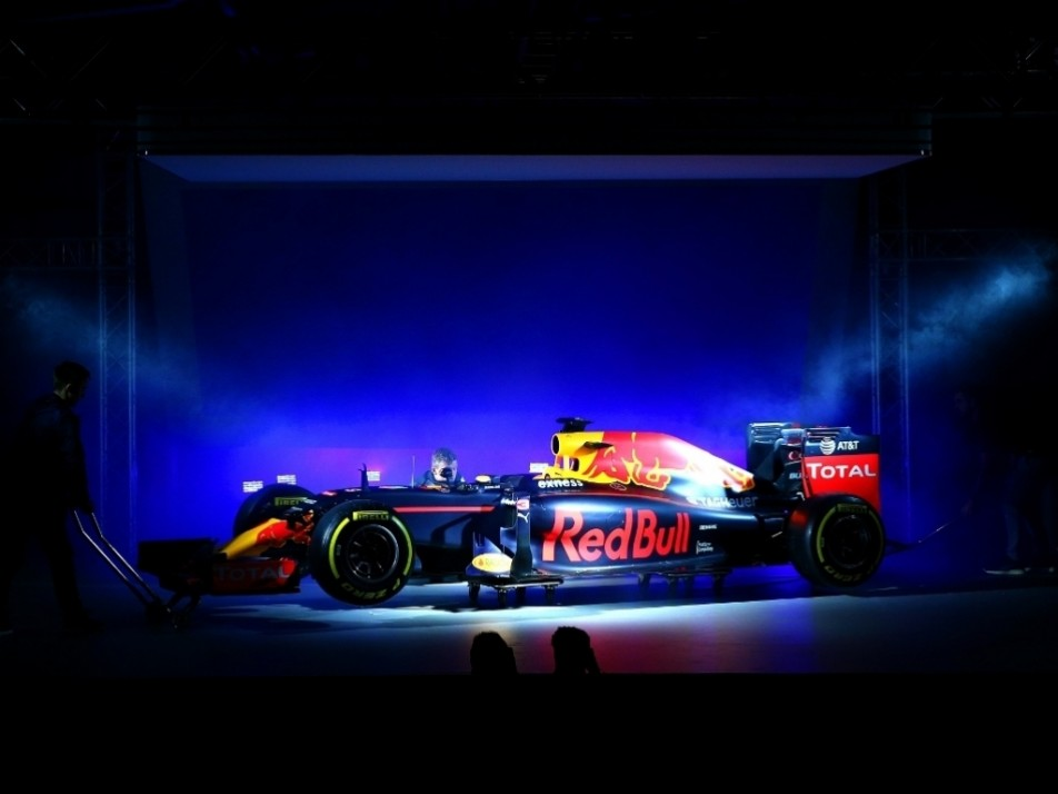 The team used last year's RB11 for the display