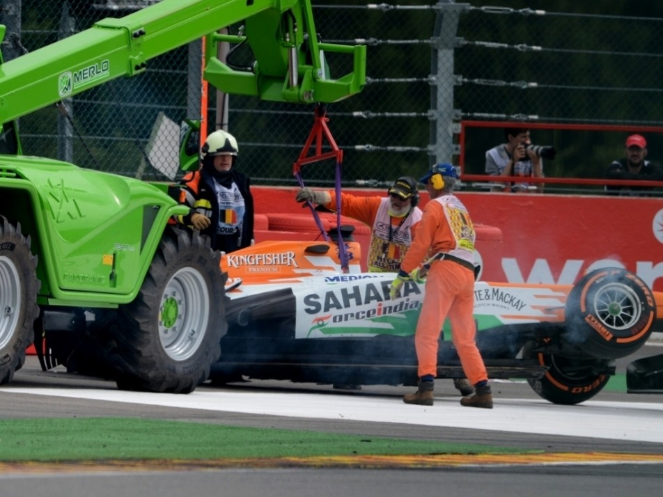 2013 Belgian GP: Crashed into Paul di Resta, putting the Force India into retirement...